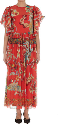 RED Valentino Bird Of Paradise In The Forest Print Dress