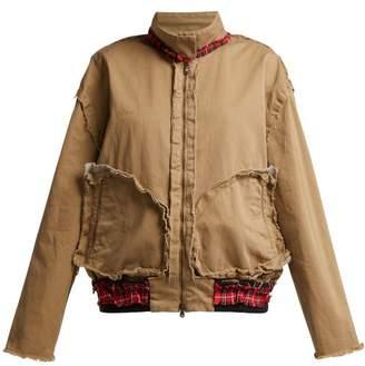 Vetements Inside-out Cotton Harrington Jacket - Womens - Beige