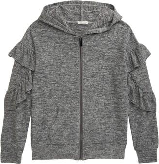 Habitual Kinsley Ruffle Hooded Sweatshirt