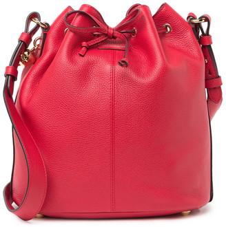 Alexander McQueen Padlock Skull Leather Bucket Bag