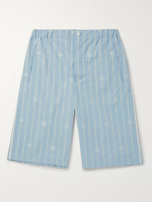 Gucci Striped Cotton-Jacquard Bermuda Shorts