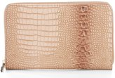 Kate Landry Crocodile-Embossed Travel Wallet