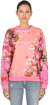 Givenchy Flower Printed Cotton Jersey Sweatshirt