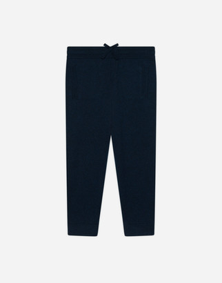 Dolce & Gabbana Cashmere Jogging Pants With Heritage Embroidery