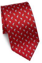 Salvatore Ferragamo Dancing Shark Printed Silk Tie