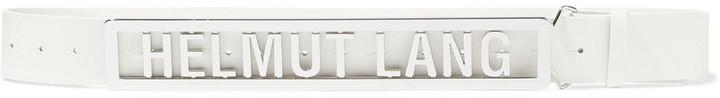 Helmut Lang Name Plate Leather Belt