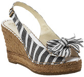 Maypol - 11811 - Black Canvas Striped Wedge Espadrille