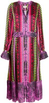 Temperley London button down printed dress