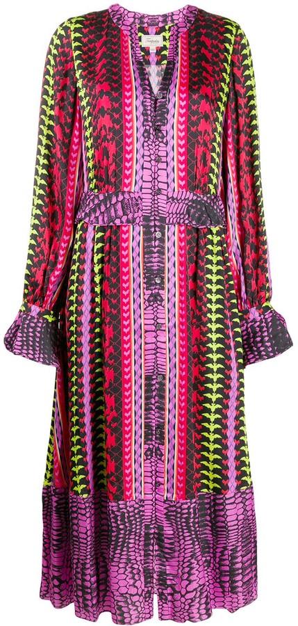 Temperley London Button Down Printed Dress