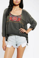 Urban Outfitters Ecote Floral Embroidered Top