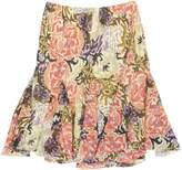 Lauren Ralph Lauren Womens Floral Print Pull On Flounce Skirt M