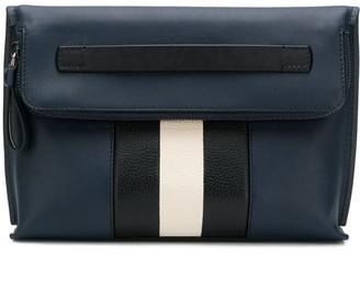 Bally striped clutch bag