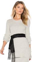BCBGeneration Split Sweater in Gray