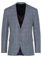Hugo Boss Jayden Regular Fit, Itlian Linen Wool Sport Coat 38R Open Blue