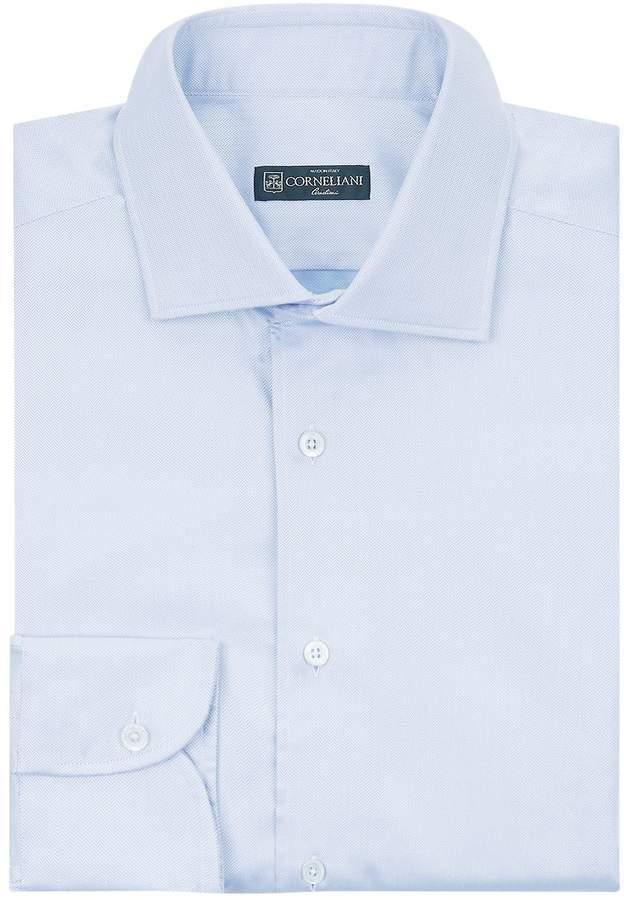 Corneliani Cotton Herringbone Shirt