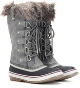 Sorel Joan Of ArcticTM Shearling-trimmed Suede And Rubber Boots