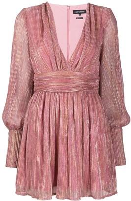 retrofete V-neck mini dress