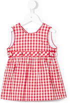 Familiar scoop neck gingham dress
