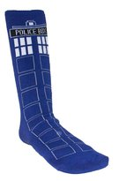Doctor Who Unisex Cushion Tardis Socks With Rubber Grips