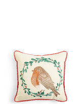Marks and Spencer Robin Embroidered Cushion