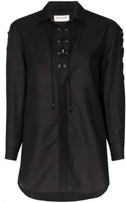 Saint Laurent Lace-Up Shirt
