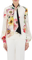 Lanvin Women's Silk Long-Sleeve Tieneck Blouse