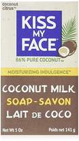 Kiss My Face Pure Coconut Milk Soap Bar with Coconut Oil, 5 oz