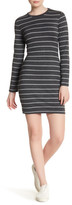 Cupcakes And Cashmere Malbec Striped Long Sleeve Dress
