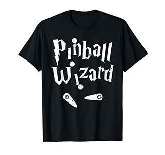 Pinball Wizard Arcade Machine Player Game Lover Art Design T-Shirt