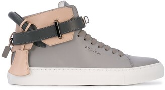 Buscemi High-Top Padlock Sneakers