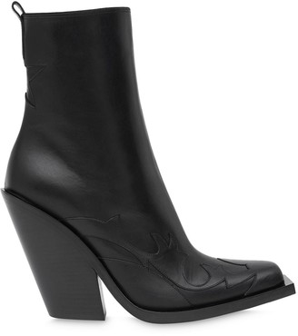 Burberry Star Detail Block-Heel Ankle Boots