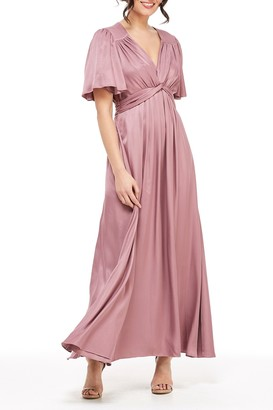 Gal Meets Glam Genevieve Satin Maxi Dress