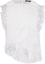 Isabel Marant Valone ruffled plissé silk-blend organza top
