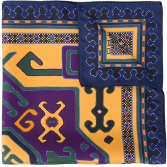 Etro Carpet-print silk pocket square