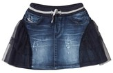 Diesel Blue Tulle and Denim Skirt