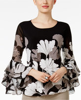 Alfani Ruffled Blouson Top, Only at Macy's