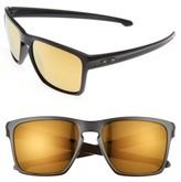 Oakley Men's Silver Xl 57Mm Sunglasses - Black/yellow