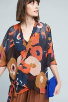 Anthropologie Abstract Daisies Kimono
