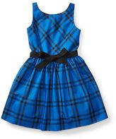 Ralph Lauren Plaid Taffeta Sleeveless Dress