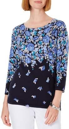 Karen Scott Floral Print Sweater