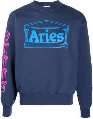 Aries crew neck sweatshirt