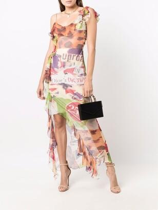 2000s Pre-Owned Multi-Print Sheer Dress