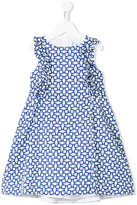 Simonetta tile print dress - kids - Cotton/Polyester - 10 yrs