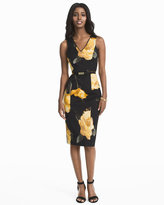 White House Black Market Floral Sheath Dress