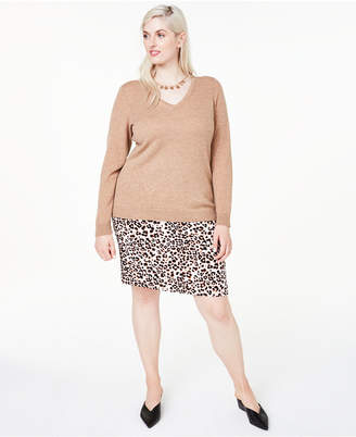 Charter Club Plus Size V-Neck Cashmere Sweater