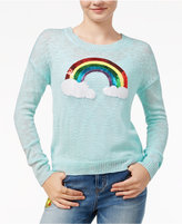 Almost Famous Juniors' Rainbow Graphic Sweater