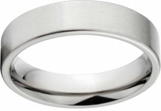 Online Brushed 5mm Titanium Wedding Band with Comfort Fit Design