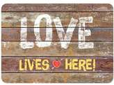 The Softer Side by Weather GuardTM 23-Inch x 26-Inch Rustic Love Sign Kitchen Mat