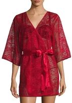 """Blush Lingerie 33"""" Mesh Lace Kimono"""