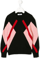 MSGM diamond stripe jumper